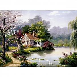 500조각 풍경퍼즐 나무숲 전원주택