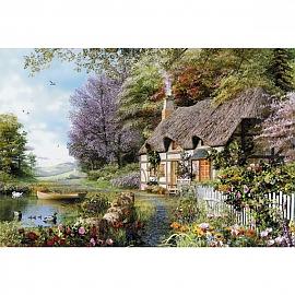 500조각 풍경퍼즐 호숫가 작은집