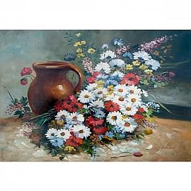 500조각 정물화퍼즐 화병과 꽃
