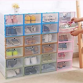 투명 플라스틱 조립식 신발정리함 신발박스