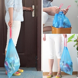 자동끈 비닐봉지 비닐봉투 쓰레기비닐 15매 한세트