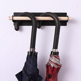 내츄럴 우드 우산걸이