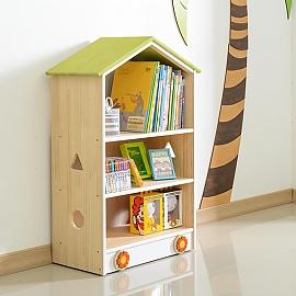 어린이교구장 키즈수납장 지붕형 3단 유아동책장