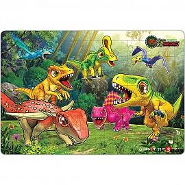 49 64 랜덤조각 판퍼즐 - 공룡메카드