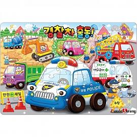 49 64 72 랜덤조각 판퍼즐 - 출동 경찰차