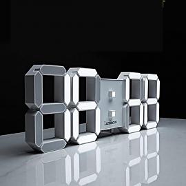 LED 벽시계 거실 전자 리모컨 무소음 네츄럴골드