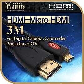 Coms HDMI Micro HDMI 케이블 3M Black