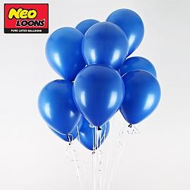 네오텍스 5인치 일반 블루 라운드 풍선 100개입