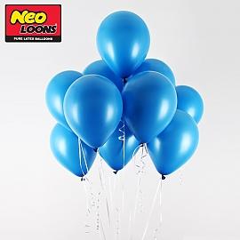네오텍스 5인치 일반 미드블루 라운드 풍선 100개입