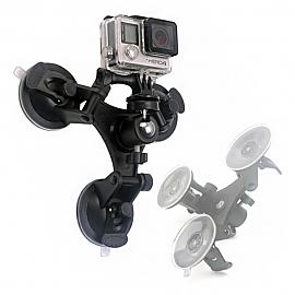 라이트닝 U-SC3 카메라 액션캠 3구 석션컵 흡착마운트