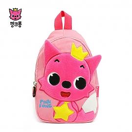 핑크퐁 자수 슬링백-핑크