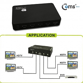 Coms HDMI 분배기 4대1 제품 영상 동시 출력 HDMI 1.3 규격 지원