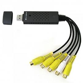 Coms USB DVR 4포트 장치 EasyCAP DVR