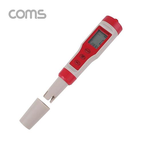 Coms 수질 농도 테스터기  측정기(PHTDSEC온도 측정) a010