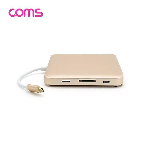 Coms USB 3.1 Type-C 멀티 컨버터허브도킹 (HDMI VGA mini DP USB 3.0 카드리더 오디오)