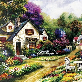 500피스퍼즐 평화로운 정원 (BN805-28)