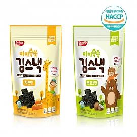 어린이 건강 간식 김스낵 치즈맛 코코넛맛 택5봉