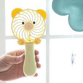 곰돌이 핸디형 미니 휴대용 선풍기 (노랑)